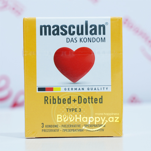 Masculan Ribbed+Dotted  N3