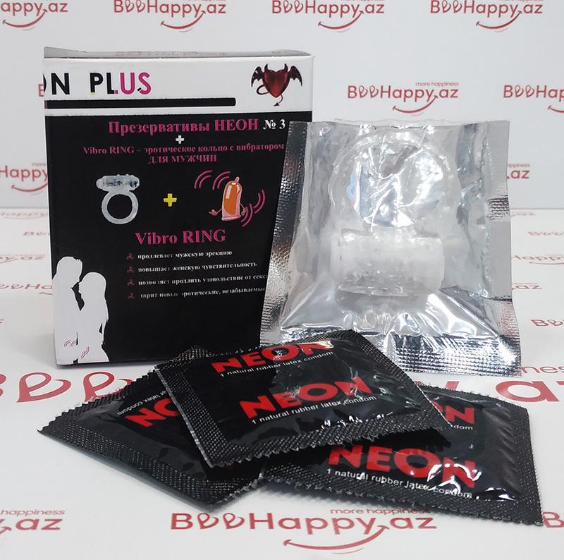 Neon Plus - Vibratorlu Prezervatif